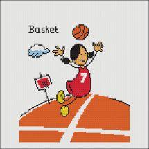 Kit point de croix - Marie Coeur - Basket