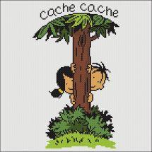 Kit point de croix - Marie Coeur - Cache-cache