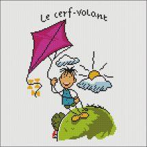 Kit point de croix - Marie Coeur - Le cerf-volant