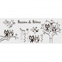 Kit point de croix - Princesse - Histoire de hiboux A