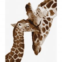 Kit point de croix - Marie Coeur - Girafe et son girafon
