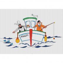 Kit point de croix - Marie Coeur - Drôle de pêche