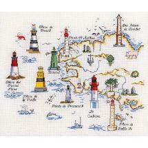 Kit point de croix - Marie Coeur - Les phares bretons