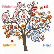 Kit point de croix - Marie Coeur - Arbre aux saisons