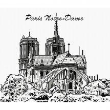 Kit point de croix - Marie Coeur - Notre-Dame
