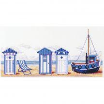 Kit point de croix - Marie Coeur - Cabines de plage