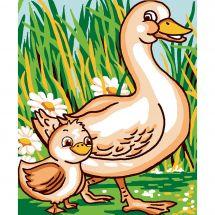 Kit de canevas pour enfant - Luc Créations - Canards