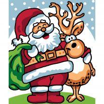 Kit de canevas pour enfant - Luc Créations - Père Noël et renne