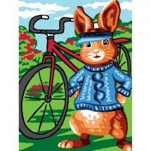Kit de canevas pour enfant - Luc Créations - Monsieur lapin