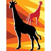 Kit de canevas pour enfant - Luc Créations - Girafes
