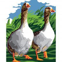 Kit de canevas pour enfant - Luc Créations - Les oies