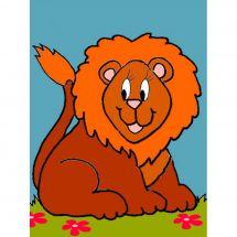Kit de canevas pour enfant - Luc Créations - Le lion