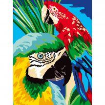 Kit de canevas pour enfant - Luc Créations - Les perroquets
