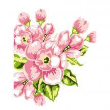 Kit de canevas pour enfant - Luc Créations - Fleurs roses