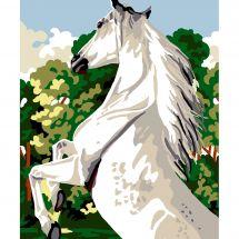Kit de canevas pour enfant - Luc Créations - Cheval blanc
