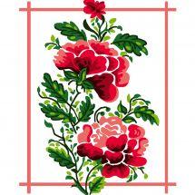 Kit de canevas pour enfant - Luc Créations - Fleur rouges