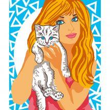 Kit de canevas pour enfant - Luc Créations - Petit chaton
