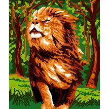 Kit de canevas pour enfant - Luc Créations - Lion