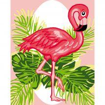 Kit de canevas pour enfant - Luc Créations - Flamant rose