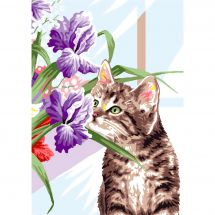 Canevas Pénélope  - Luc Créations - Le chat