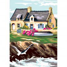 Canevas Pénélope  - Luc Créations - Maison bretonne