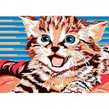 Canevas Pénélope  - Luc Créations - Le petit chaton
