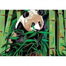 Canevas Pénélope  - Luc Créations - Le panda