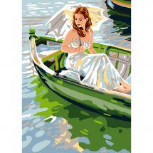 Canevas Pénélope  - Luc Créations - La barque