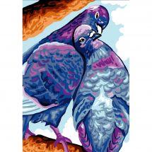 Canevas Pénélope  - Luc Créations - Pigeons