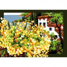 Canevas Pénélope  - Luc Créations - Le mimosa