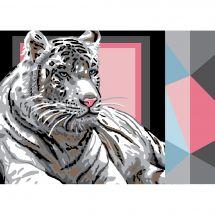 Canevas Pénélope  - Luc Créations - Tigre blanc