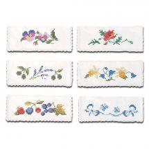 Pochette serviette à broder - Luc Créations - 6 Pochettes serviettes à broder