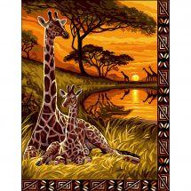 Canevas Pénélope  - Luc Créations - Souvenir d Afrique