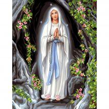 Canevas Pénélope  - Luc Créations - Notre Dame de Lourdes