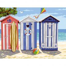 Canevas Pénélope  - Luc Créations - Les cabines de plage