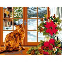 Canevas Pénélope  - Luc Créations - L'hiver à la fenêtre