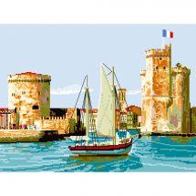 Canevas Pénélope  - Luc Créations - Le port de la Rochelle