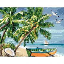 Canevas Pénélope  - Luc Créations - Au paradis des îles