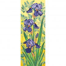 Canevas Pénélope  - Margot de Paris - Les iris mauves