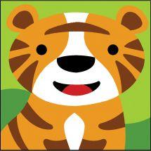 Kit de canevas pour enfant - SEG de Paris - Tigre
