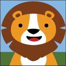 Kit de canevas pour enfant - SEG de Paris - Lion