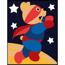 Kit de canevas pour enfant - Margot de Paris - Super ours