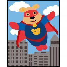 Kit de canevas pour enfant - Margot de Paris - Super ours volant