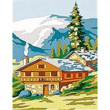 Kit de canevas pour enfant - Margot de Paris - Chalet en montagne