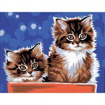 Kit de canevas pour enfant - Margot de Paris - Les deux chatons