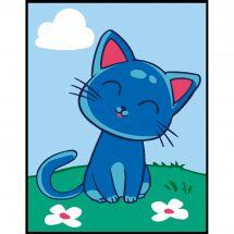 Kit de canevas pour enfant - Margot de Paris - Chat bleu
