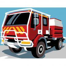 Kit de canevas pour enfant - Margot de Paris - Camion pompier