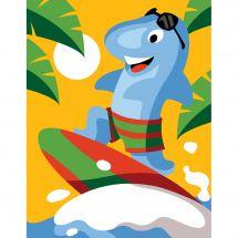 Kit de canevas pour enfant - Margot de Paris - Requin surfeur