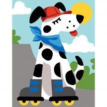 Kit de canevas pour enfant - Margot de Paris - Dog rollers