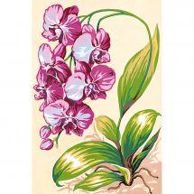 Canevas Pénélope  - SEG de Paris - L orchidée